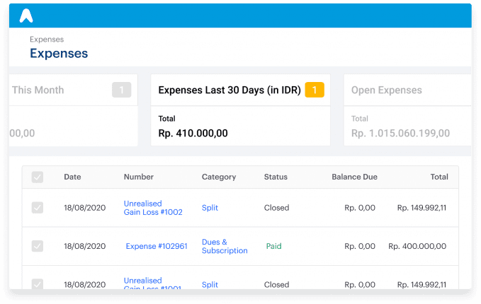Track every expense