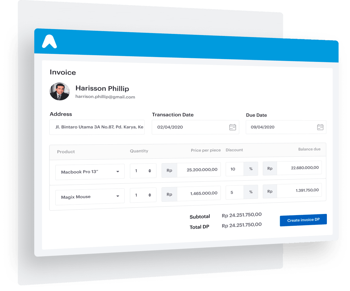 Advanced invoicing system